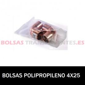 BOLSA POLIPROPILENO SIN CIERRE 4X25