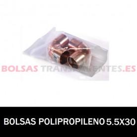 BOLSA POLIPROPILENO SIN CIERRE 5.5X30