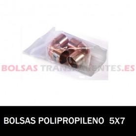 BOLSA POLIPROPILENO SIN CIERRE 5X7