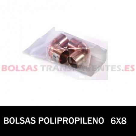 BOLSA POLIPROPILENO SIN CIERRE 6X8