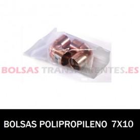 BOLSA POLIPROPILENO SIN CIERRE 7X10