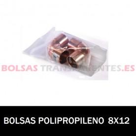 BOLSA POLIPROPILENO SIN CIERRE 8X12