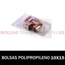 BOLSA POLIPROPILENO SIN CIERRE 10X15