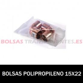 BOLSA POLIPROPILENO SIN CIERRE 15X22