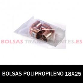 BOLSA POLIPROPILENO SIN CIERRE 18X25