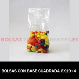 BOLSAS POLIPROPILENO CON BASE CUADRADA 6X19+4