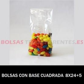 BOLSAS TRANSPARENTES AUTOCIERRE Y BANDAS 12X18