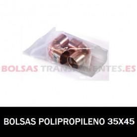 BOLSA POLIPROPILENO SIN CIERRE 35X40