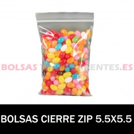 BOLSAS TRANSPARENTES CON AUTOCIERRE 8X12