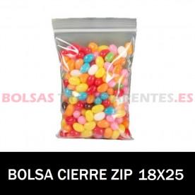 BOLSAS TRANSPARENTES CON AUTOCIERRE 25X35