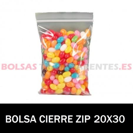 BOLSAS TRANSPARENTES AUTOCIERRE 20X30