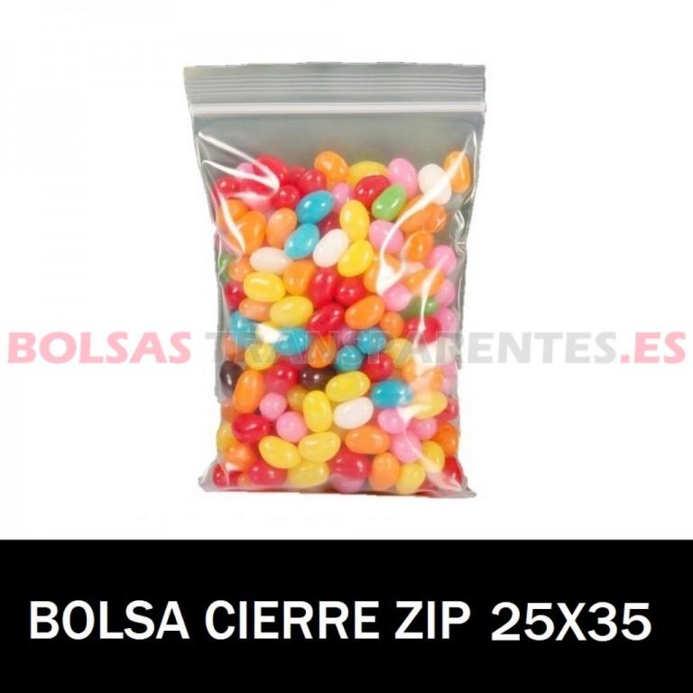 BOLSAS TRANSPARENTES CON CIERRE CURSOR 20X15