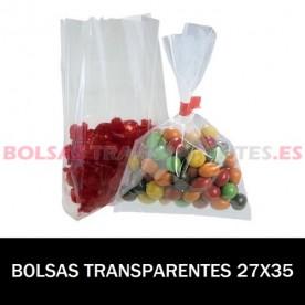 BOLSAS TRANSPARENTES AUTOCIERRE Y BANDAS 7X10