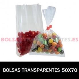 BOLSAS TRANSPARENTES SOLAPA ADHESIVA 4X22