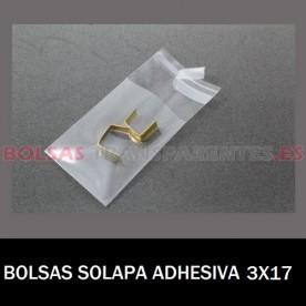 BOLSAS TRANSPARENTES SOLAPA ADHESIVA 7X20