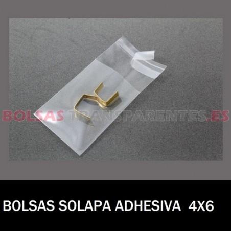 BOLSAS TRANSPARENTES SOLAPA ADHESIVA 4X6 24.000 BOLSAS