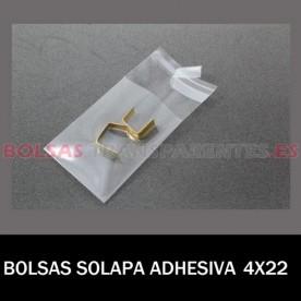 BOLSAS TRANSPARENTES SOLAPA ADHESIVA 8X12