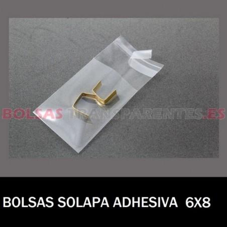 BOLSAS POLIPROPILENO CON SOLAPA ADHESIVA 6X8