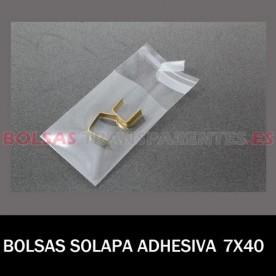 BOLSAS TRANSPARENTES SOLAPA ADHESIVA 15X22