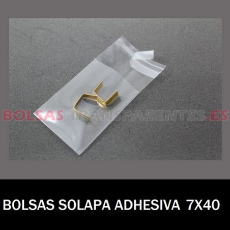 BOLSAS TRANSPARENTES SOLAPA ADHESIVA 7X40 10.000 BOLSAS