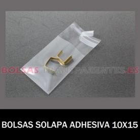 BOLSAS TRANSPARENTES SOLAPA ADHESIVA 20X30