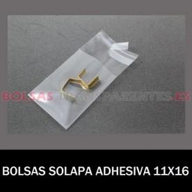 BOLSAS TRANSPARENTES SOLAPA ADHESIVA 22X32