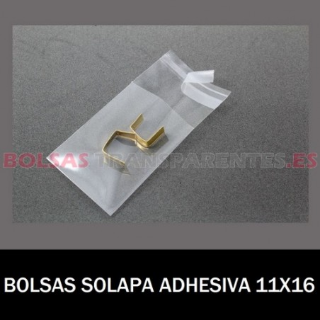 BOLSAS TRANSPARENTES SOLAPA ADHESIVA 11X16 12.000 BOLSAS