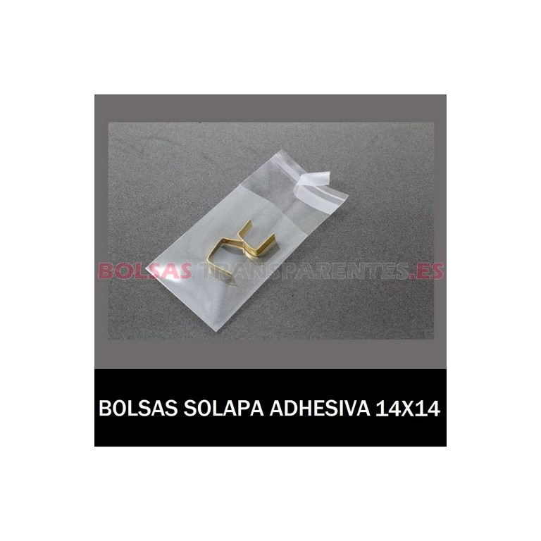 BOLSAS TRANSPARENTES SOLAPA ADHESIVA 30X40