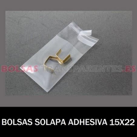 BOLSAS TRANSPARENTES SOLAPA ADHESIVA 15X22 6.000 BOLSAS