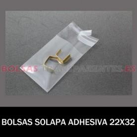 BOLSAS TRANSPARENTES SOLAPA ADHESIVA Y EUROTALADRO 8X12