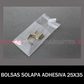 BOLSAS TRANSPARENTES SOLAPA ADHESIVA Y EUROTALADRO 8.5X14