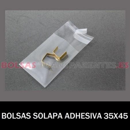 BOLSAS TRANSPARENTES SOLAPA ADHESIVA 35X45 1.000 BOLSAS