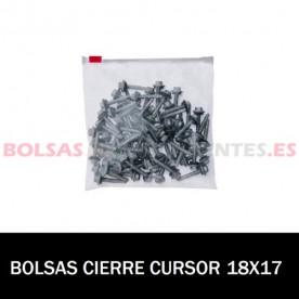 BOLSA POLIETILENO CON CIERRE CURSOR 18X17