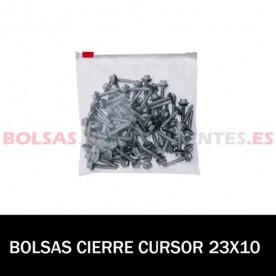 BOLSA POLIETILENO CON CIERRE CURSOR 23X10