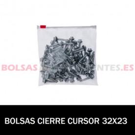 BOLSA POLIETILENO CON CIERRE CURSOR 32X23