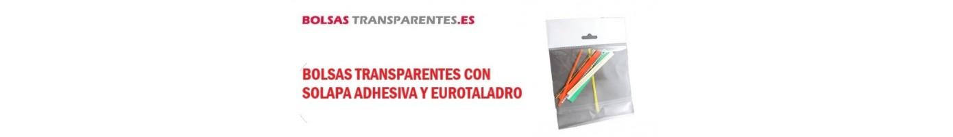 BOLSAS TRANSPARENTES SOLAPA ADHESIVA REFUERZO Y EUROTALADRO