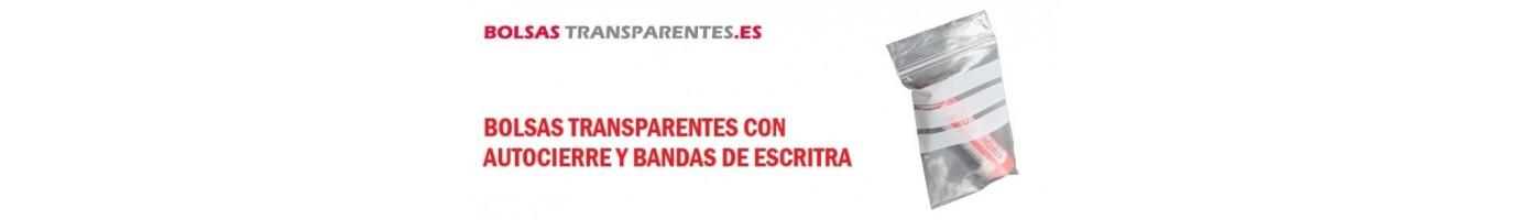 BOLSAS CON AUTOCIERRE Y BANDAS DE ESCRITURA